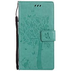 kotelon kantta kortin haltija lompakko, jossa seisomainen käännettävä kohokuvioitu kuvio koko kotelo kissa kova pu nahkaa Sonya varten