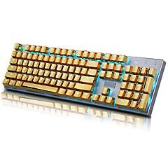 E-element 104 pbt dubbele schot injectie verlichte gouden metaal kleur keycaps voor alle mechanische toetsenborden met sleutel trekker