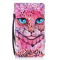til kuffert kortholder lommebok med stativ flip magnetisk mønster fuld krop kasse kat hårdt pu læder til huawei huawei p10 lite huawei