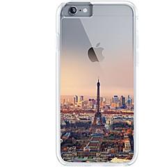 Käyttötarkoitus iPhone 7 iPhone 7 Plus kotelot kuoret Ultraohut Läpinäkyvä Kuvio Takakuori Etui Eiffel-torni city View Pehmeä TPU varten