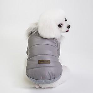 Honden Jassen Hondenkleding Brits Grijs / Rood / Blauw Textiel Binnenwerk Kostuum Voor huisdieren Unisex Casual / Dagelijks / Opwarm Kleding