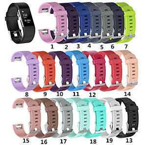 Cinturino per orologio per Fitbit Charge 2 Fitbit Cinturino sportivo Silicone Custodia con cinturino a strappo
