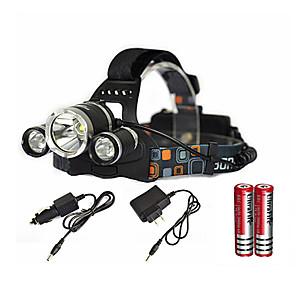 Torce frontali LED emettitori 6000 lm 1 Modalità di illuminazione con batterie e caricabatterie Zoom disponibile, Impermeabile, Ricaricabile Campeggio / Escursionismo / Speleologia, Uso quotidiano