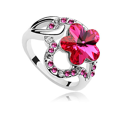 Eruner®Plum Flower Crystal Ring