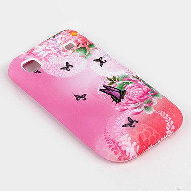 Butterfly Protective Case for Samsung i9000 (Pink)