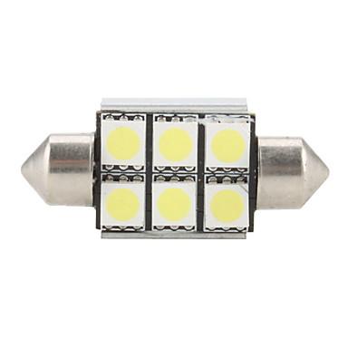 36mm 6 SMD Super White 5500K LED Light Bulb