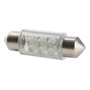 36mm 6-LED White Light Bulb for Car (DC 12V)