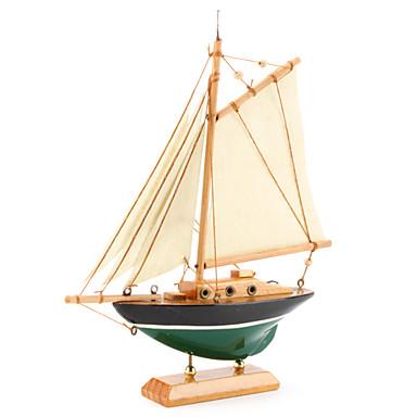 Houten zeilboot decoratie 425794 2017 for Decoratie zeilboot