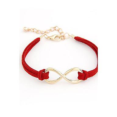 Bracelet Leather Bracelet Alloy Infinity Bracelet Friendship Bracelet Adjustable Fashion Jewelry Charm Bracelet Gold Stone1 pc Christmas Gifts