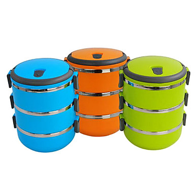 portable 3 tier insulation bento lunch box assorted colors 593711 2017 1. Black Bedroom Furniture Sets. Home Design Ideas