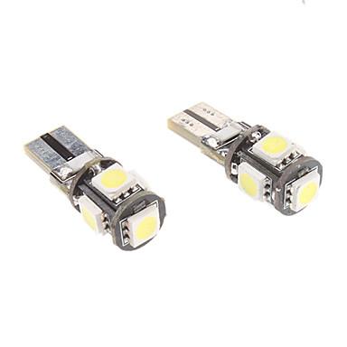 T10 1w 5x5050smd luce bianca ha condotto la lampadina per for Lampadine led per auto