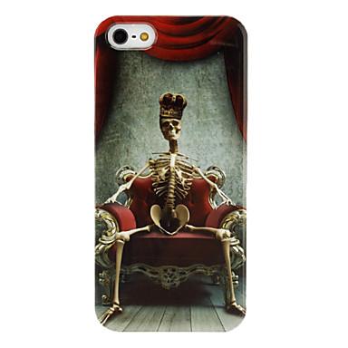 Skeleton King Pattern Transparent Frame Hard Case for iPhone 5/5S