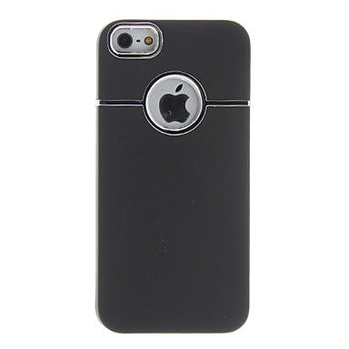 Electroplating Matting Protective Case with Back Hole Site for iPhone 5/5S (Black)