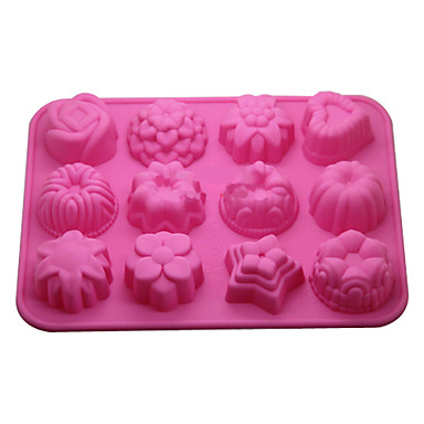 Cake Art Candy Molds : 12-in-1 Soft Rubber Cake / Bread / Mousse / Jelly ...
