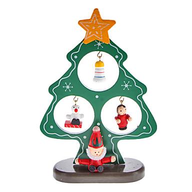 Madera del rbol de navidad de pap noel campana - Decoraciones del arbol de navidad ...