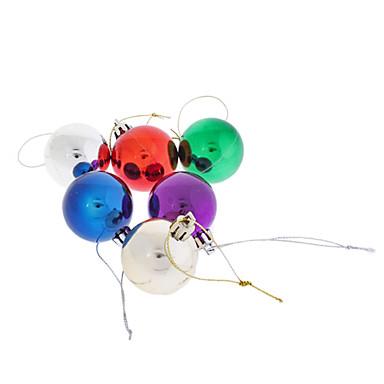 "6-Pack Shiny Finish Shatterproof Balls Christmas Tree Ornament 1"" (30mm, Random Color)"