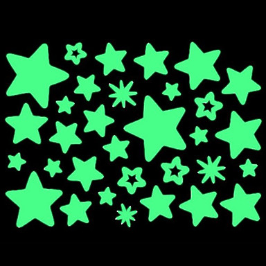 Home Wall Glow In The Dark Star Stickers Set