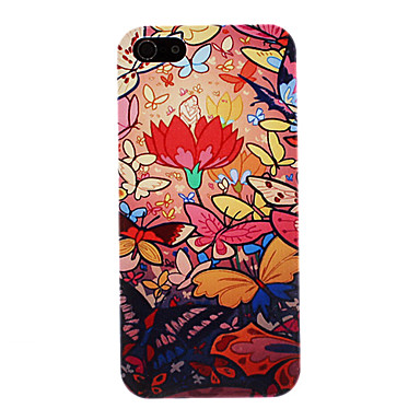 Butterflies Playing in the Flower Pattern PC Hard Case for iPhone 5/5S