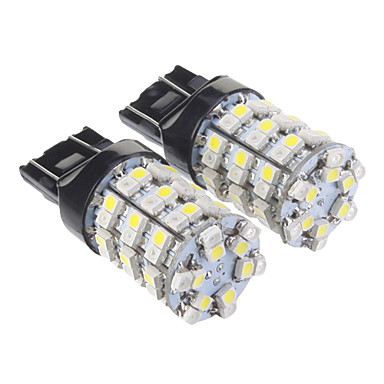 T20 7440 60x3528smd warm wit licht led lamp voor in de for Led autolampen