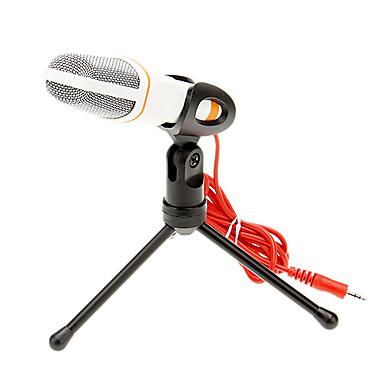 666 3.5mm Stereo Plug Bracket High Quality KTV Microphone (White)