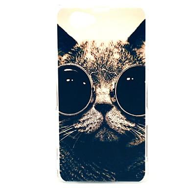 Glasses Cat  Pattern Hard Case for Sony Xperia Z1 Mini