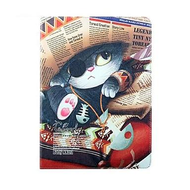 Malerei Katze Perfume PU-Leder Ganzkörper-Fall mit Ständer für iPad Air