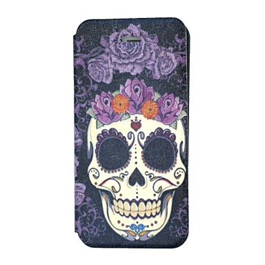 the skull with purple flowers pattern pu leather full body. Black Bedroom Furniture Sets. Home Design Ideas