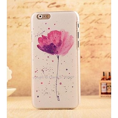 Purple Sketch Flower Style Plastic Hard Back Cover iPhone 6