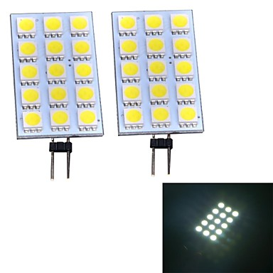 Luci LED Bi-pin 15 SMD 5050 G4 3W 140~160 LM Luce fredda DC 12 V del 2061134 2017 a €5.59