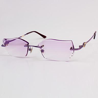 [Free Lenses] Titanium Alloy Cat-Eye Rimless Crystal ...