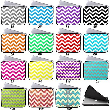 lacdo 174 13 inch chevron neoprene notebook laptop bag waterproof sleeve for macbook air pro