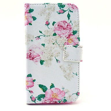 beautiful rose flower pattern pu leather case cover with. Black Bedroom Furniture Sets. Home Design Ideas