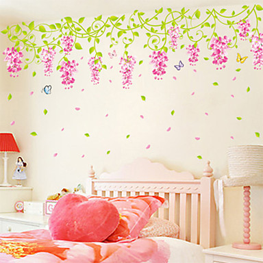 Sweet Wisteria PVC Wall Stickers Wall Art Decals