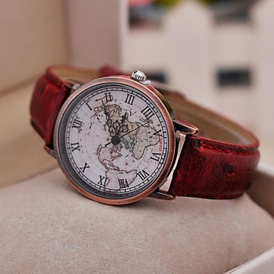 Women's Watch Vintage Roman Map Quartz PU Band(Assorted Colors) Cool Watches Unique Fashion