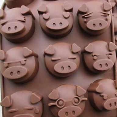 Multifunctional heat pig shape diy mold silicone material for Random diys