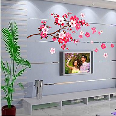 Stile cinese fiore di pesca della parete del pvc for Case del ranch di stile della prateria