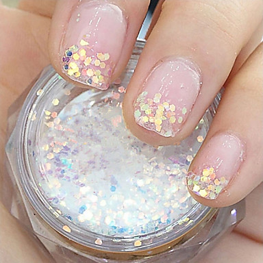 GradientRamp Hexagonal Glitter Tablets Nail Art Dekorationen