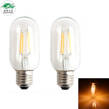 Lampade LED a incandescenza 4 Capsula LED Zweihnder CA E26/E27 4 W Decorativo 380 LM Bianco ...