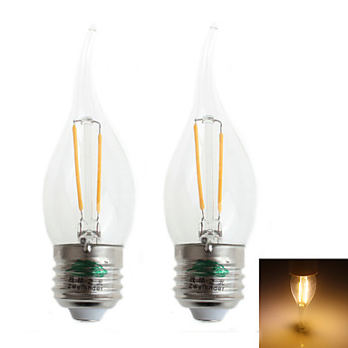 Zweihnder Lâmpada de Filamento LED Decorativa E26/E27 2 W 350 LM 3000-3500 K ...
