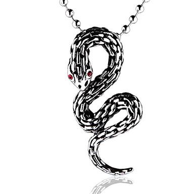 Unique Fashion Snake Shape Titanium-Steel Pendant(Steel Color)(1Pc)