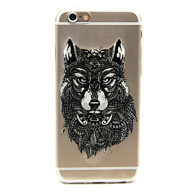 Wolf Pattern TPU Cell Phone Soft Shell iPhone 6