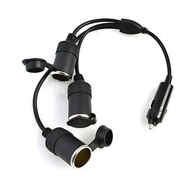 DearRoad 1 3 Car Cigarette Cigar Lighter DC 12V Extension Cable Adapter Socket Charger