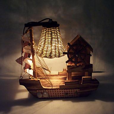 kreativ tre lys musikk seiling lampe dekorasjon bordlampe soverom ...