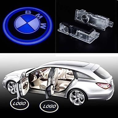 installation de projecteur de logo de porte de voiture