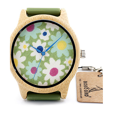 Women's Kids' Sport Watch Fashion Casual Quartz Japanese / Leather Band Vintage Flower Black Orange Green Brand