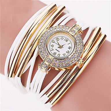 Fashion Brand Quartz Watch Women Dress Leather Wristwatches Popular Casual Watches Gold Jewelry Bracelet Clock