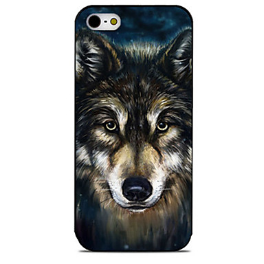 Creative Wolf Pattern Painted TPU Material phone Case iPhone 7 7plus 6S 6plus SE