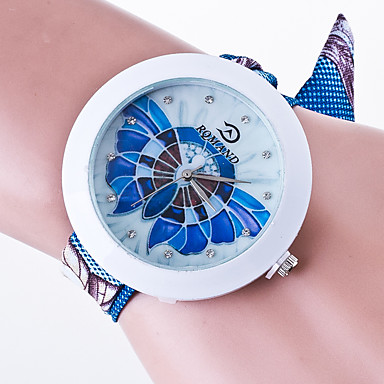 Women's Fashion Watch Casual Quartz / Fabric Band Black White Blue Green Pink Yellow Brand