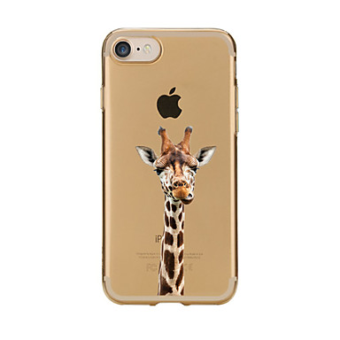 iPhone 7 Lovely Giraffe TPU Soft Ultra-thin Back Cover Case Apple PLUS 6s 6 Plus SE 5s 5 5C