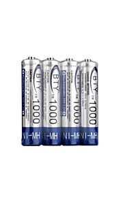 4 x aaa 1000mAh Ni-MH bty 2500 oplaadbare batterijen (byt (1000))